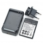 Replacement 3.7V 1500mAh Battery w/ Charger + EU Plug Adapter for HTC Incredible S/S710E/Wildfire