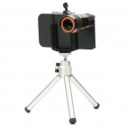 8X Lens Optical Magnification Telescope with Mini TrIpod for Iphone 4 - Black