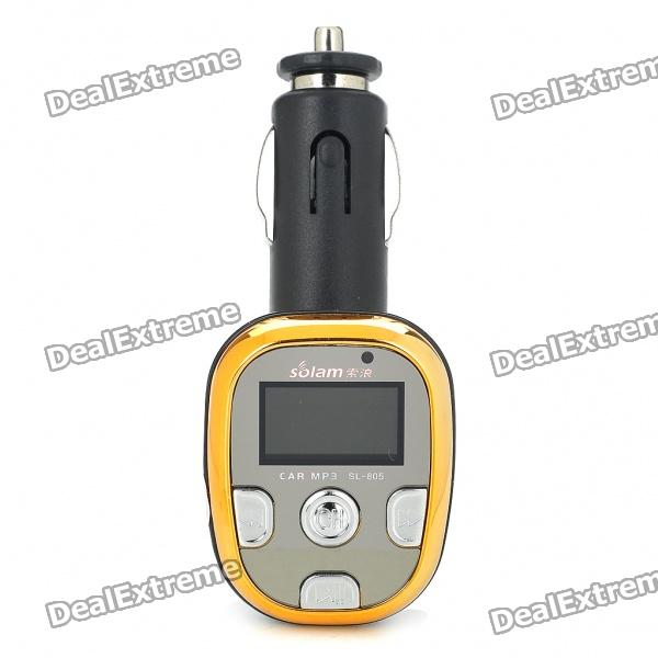 "0,9 ""OLED Car MP3 Player FM Transmitter mit Fernbedienung - Schwarz + Gold (2GB)"