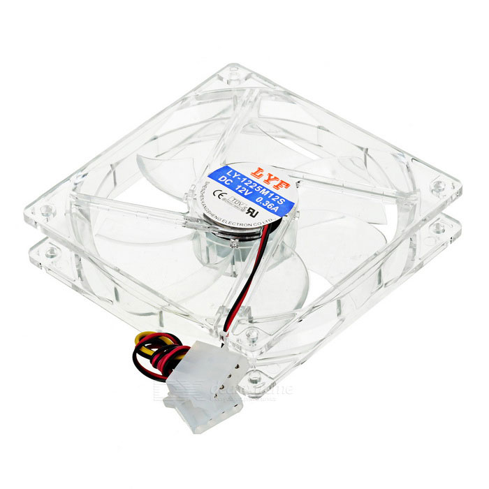 PC Case 120mm 4-LED Chassis Fan del 60mm pc cpu cooling fan 12v 3 pin computer case cooler quiet molex connector mar09