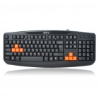 Durable 104-Key PS/2 Wired Gaming Keyboard (140CM-Cable)
