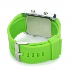 Moda Sports Water Resistant Red LED Display Digital Wrist Watch - Verde (1 x CR2032)