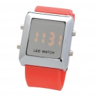 Fashion Sports Water Resistant Red LED Display Digital Wrist Watch - Orange Red (1 x CR2032)
