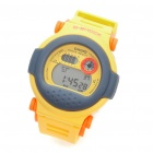 Fashion Sports Water Resistant Colorful LED Backlit Digital Wrist Watch - Yellow (1 x CR2016)