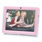 Rechargeable Photo Frame Music Media Player with FM/TF/USB/Remote Controller - Pink (1 x CR2025)