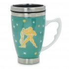 Ceramic Stainless Steel Vacuum Cup with Constellation Pattern - Aquarius (350ml)