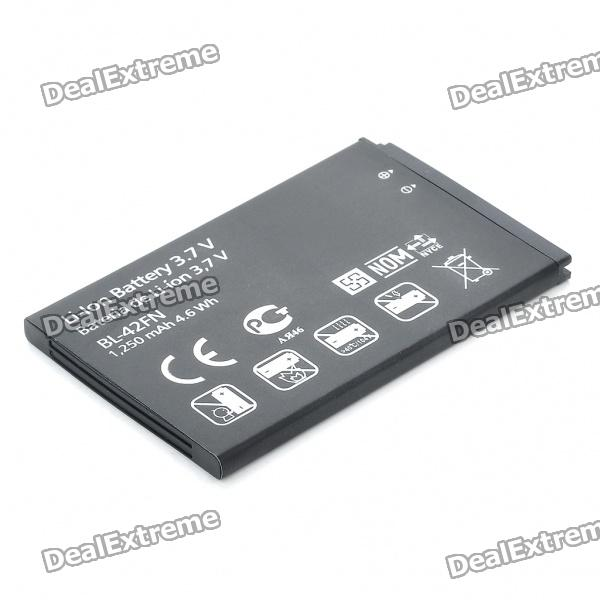 BL-42FN Replacement Compatible 3.7V 1250mAh Battery Pack for LG Optimus ME P350