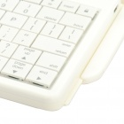 2.4GHz Bluetooth V2.0 Wireless 80-Key Keyboard w/ Rotatable Case Holder for Ipad 2 - White