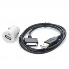 Car Cigar Lighter Powered USB Adapter/Charger + USB Data/Charging Cable for Dell Streak Mini 5