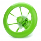 2-in-1 USB/3xAAA Powered Cooling Fan + White 8-LED-Licht-Lampe - Green