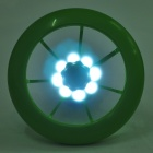 2-in-1 USB/3xAAA Powered Cooling Fan + White 8-LED Light Lamp - Green