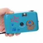 Fashion ABS 28mm Focus Free Camera with Strap - Blue (No Battery Needed)