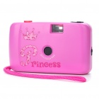 Fashion ABS 28mm Focus Free Camera with Strap - Deep Pink (No Battery Needed)