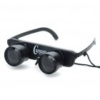 3x28 Glasses Style Fishing Binoculars Telescope - Black