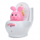 Cute Rabbit Toilet Bowl Style Money Coin Bank (2 x AAA/Random Color)