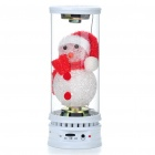 Cute Snowman Style Rechargeable Music Speaker with Flashing Light/USB/AUX/SD/Earphone Slot