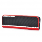 Fashion USB Rechargeable Music Speaker with Mini USB/TF/FM/Aux/Earphone Slot - Black + Red