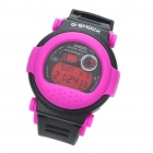 Fashion Sports LED Backlit Digital Wrist Watch - Purple + Black (1 x CR2016)