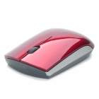 Drahtlose Bluetooth V2.0 1000dpi Optical Mouse Blue Light - rot (1 x AA)
