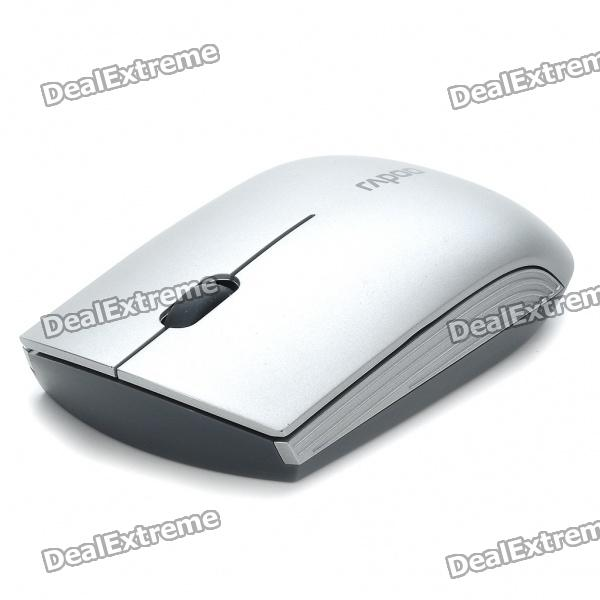 Drahtlose Bluetooth V2.0 1000dpi Optical Mouse Blue Light - Silber (1 x AA)