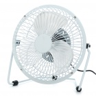 "6"" Metal USB Powered Cooling Fan - White"