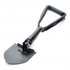 Outdoor Metal Folding Shovel with Pouch - Black (Size-M)