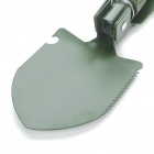Outdoor Metal Folding Shovel with Pouch and Compass - Green (Size-S)