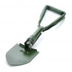 Outdoor Metal Folding Shovel with Pouch - Green (Size-M)