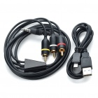 Premium AV Composite Cable + USB Data Cable for Samsung i9000 Galaxy S/i8000 Omnia2/i8510/i7500u