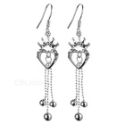 Glamorous Crystal Silver Earrings