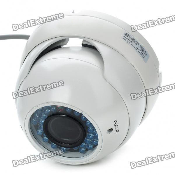 1/3 CCD Waterproof Surveillance Security Camera with 36-IR Night Vision - White (DC 12V) new safurance 200w 12v loud speaker car horn siren warning alarm stainless steel home security safety