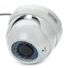 1/3 CCD Waterproof Surveillance Security Camera with 36-IR Night Vision - White (DC 12V)