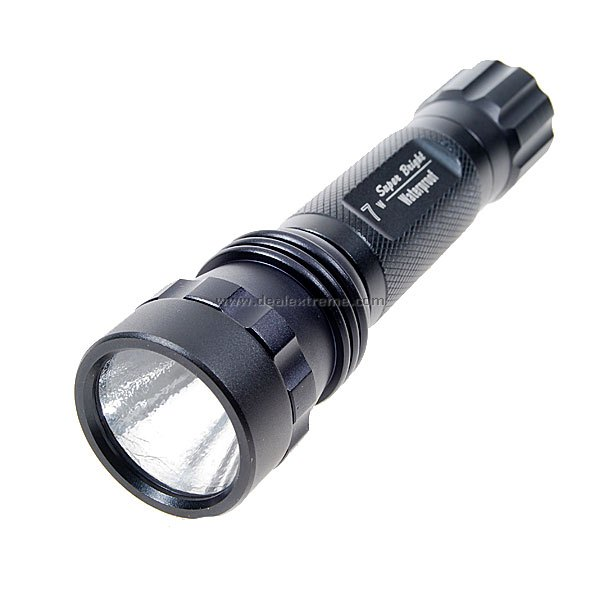 2-Mode 7W Super Bright Waterproof Flashlight w/ Cree (2x3.6V CR123A Rechargeable)