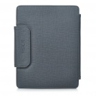 Bluetooth V2.0 Wireless Keyboard with PU Leather Case for Ipad 2 - Grey