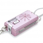 Mini Portable SOS Alarm Device with 2-Mode LED Light - Pink (1x23A)