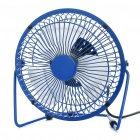 "6"" AC Powered Metal 3-Blade Cooling Fan - Blue (220V)"