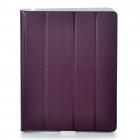 Ultrathin Protective Wake-Up/Sleep Smart Cover Case w/ LCD Protector Set for iPad 2 - Purple