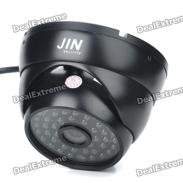 1/3 CCD Surveillance Security Camera with 48-LED IR Night Vision - Black (DC 12V) mini cmos surveillance security camera with 24 led night vision black dc 12v