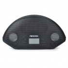 "1.4"" LCD USB Rechargeable MP3 Music Speaker with FM Radio/SD/MMC/USB/AUX - Black"