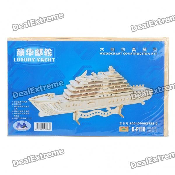 Woodcraft DIY Model 3D Puzzle Toys - Luxury Yacht