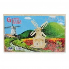 Woodcraft DIY Model 3D Puzzle Toys - Dutch Windmill