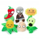 Cute Plants vs Zombie Figure Plush Toys with Suction Cup (6-Figure Set)