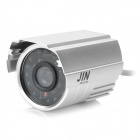 1/3 CCD Waterproof Surveillance Security Camera w/ 24-LED IR Night Vision - Silver (DC 12V)