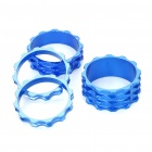 Aluminum Alloy CNC Washers for Bike Front Fork - Blue (4-Piece Pack)