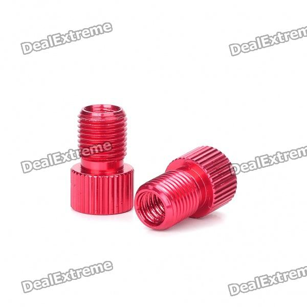 Presta to Schrader Valve Adapter Converters - Random Color (Pair)