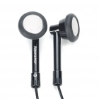 Stylish Earphone with 3.5mm Female to 2.5mm Male Audio Adapter Cable - Black (3.5mm Jack)