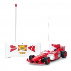 Cool 27MHz 2-CH R/C Model Racing Car - Red + White (3 x AA + 2 x AA)