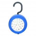 Compact 24-LED White Light with Magnet and Hook - Blue (3 x AAA)