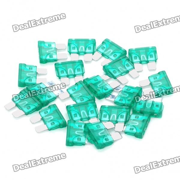 30A Car Power Fuses (20-Piece Pack)