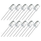 1500-2000 MCD 5mm Blue LED Emitters (10-Pack)